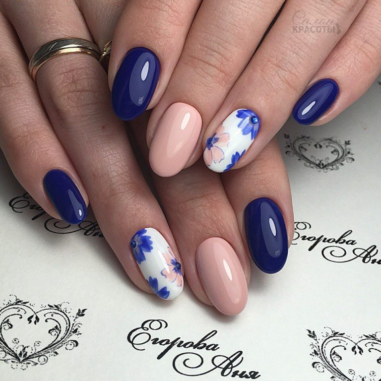 Pastel and Saturated Hues Nail Art - 25 Delicate Flower Nail Designs Adding Lovely Blooms To Your Fingertips!