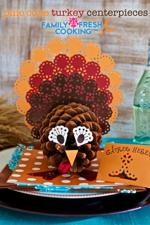 Pine Cone Turkey Centerpieces