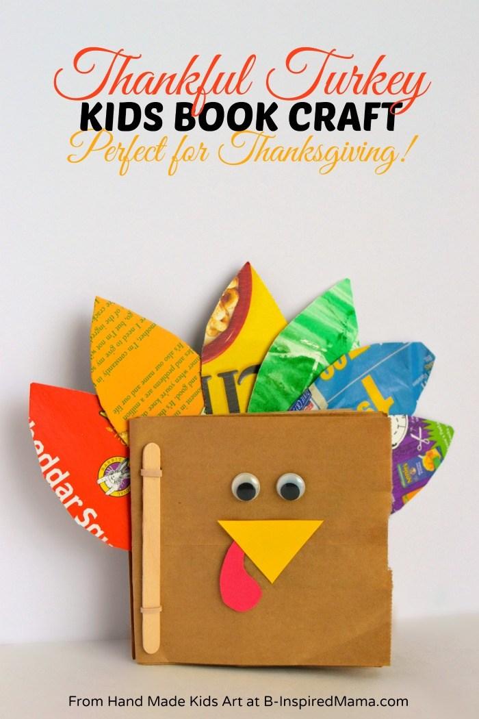 Thanksgiving Crafts : Thankful Turkey Book