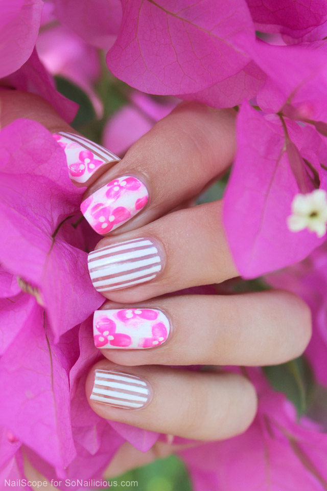 Vietnam Inspired Floral Nail Art Tutorial