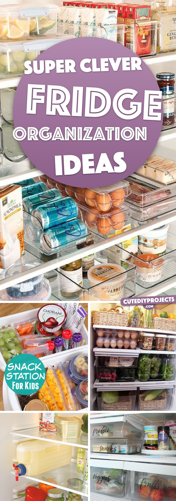 20 Super Clever Fridge Organization Ideas Nullifying All the Clutter