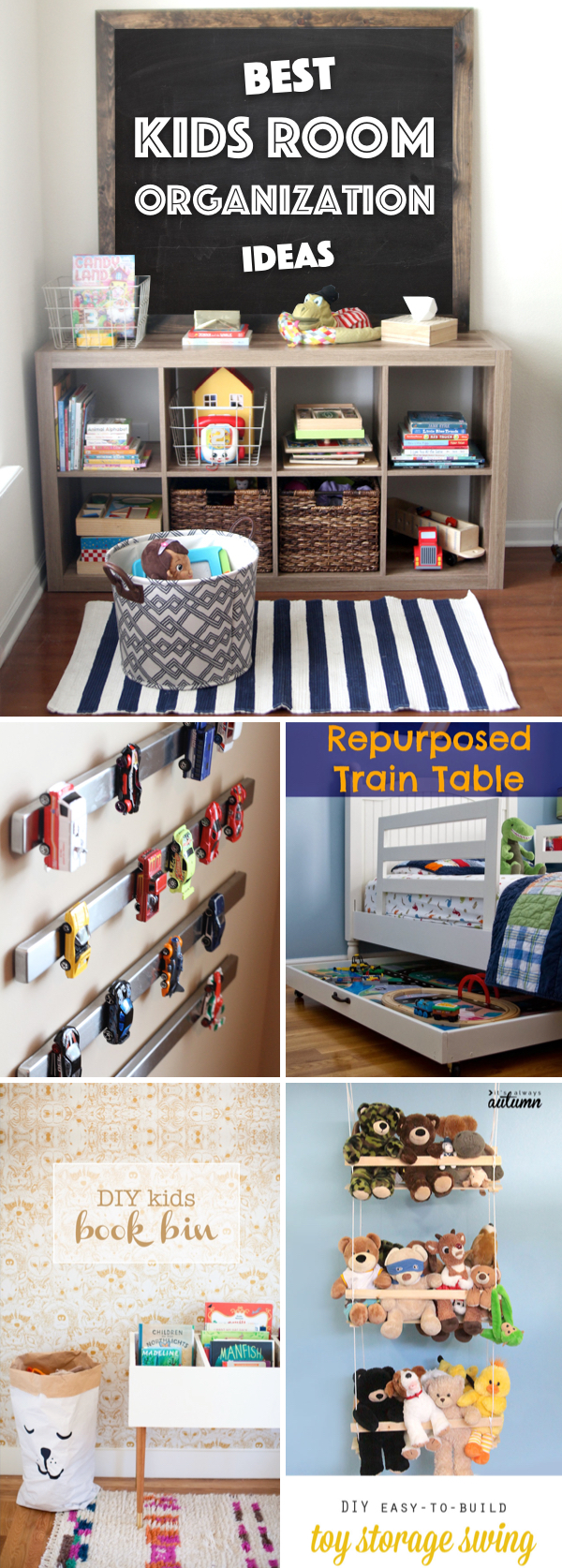 9 Kids Room Organization Ideas Stretching From Toys to School Supplies