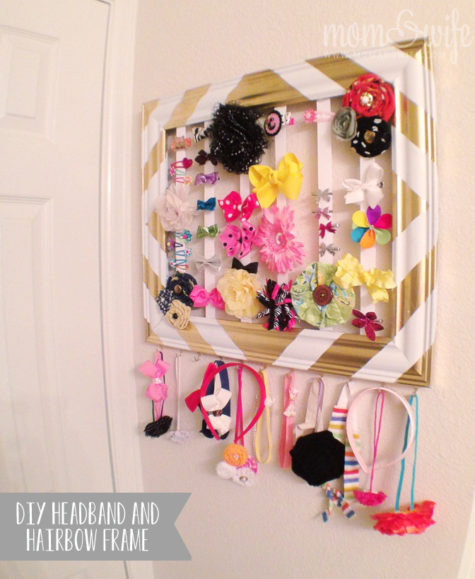 DIY Headband and Hair Bow Holder Frame