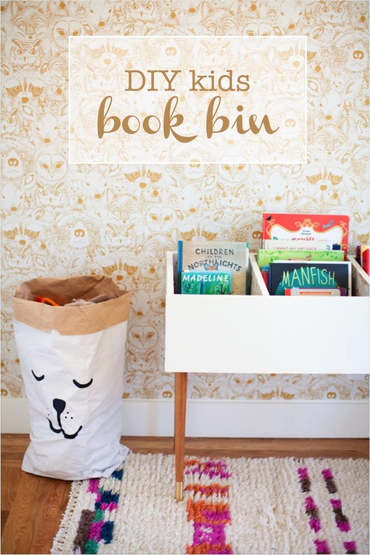 DIY Kids Book Bin