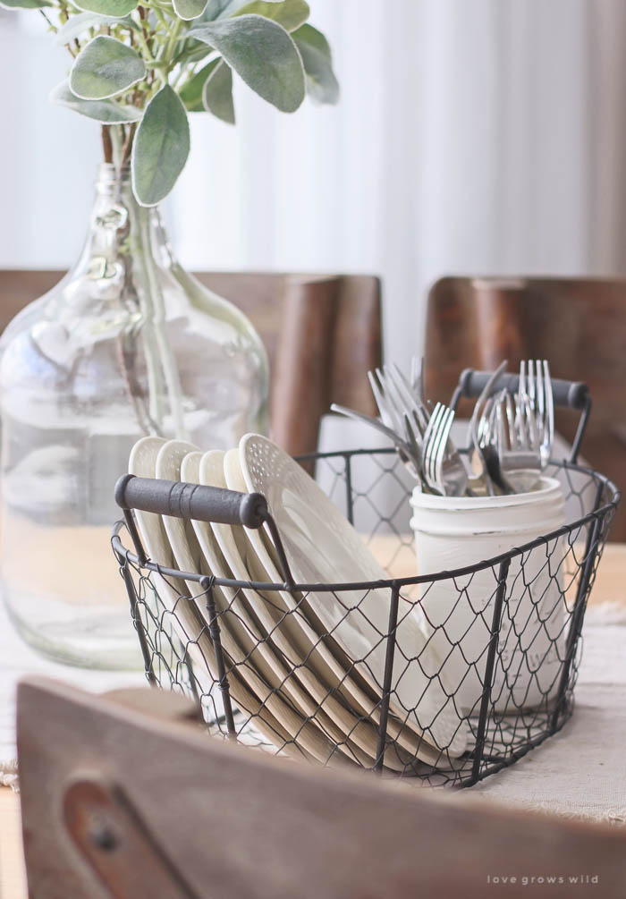 Dining Table Wire Basket