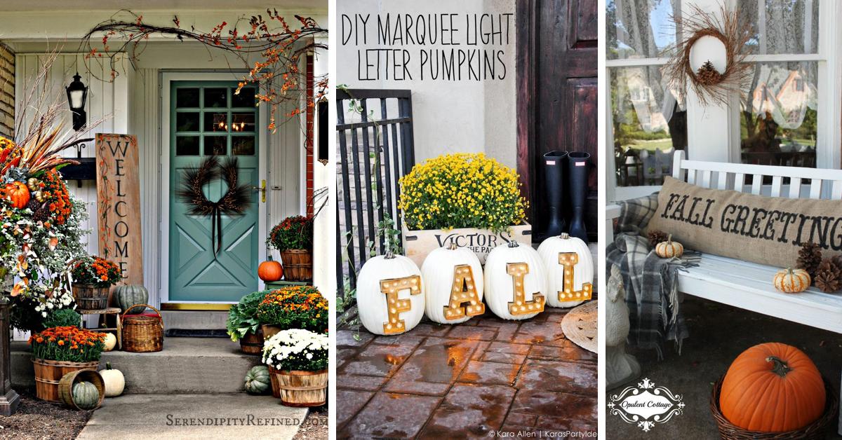 20 fall porch decor ideas dressing up your space for the Fall home decorating ideas diy