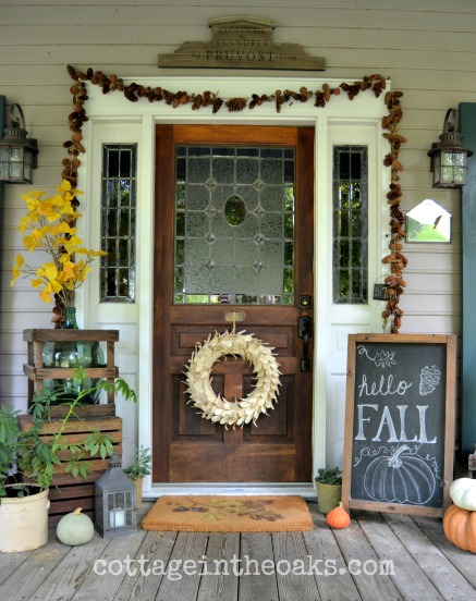 Fall Porch Decor Ideas : Versatile Chalkboard Sign