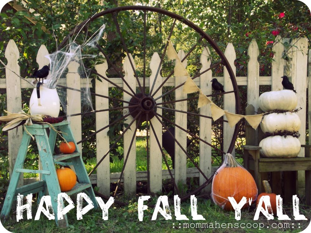Garden Fence Fall Decor