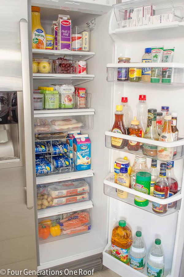 Hello Organization Refrigerator Makeover