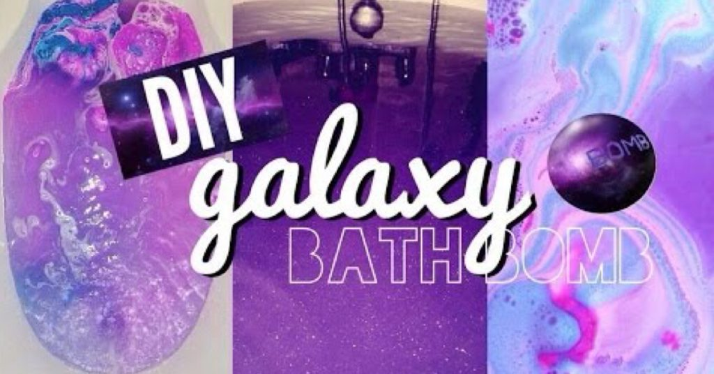 Homemade DIY Galaxy Bath Bomb-cover