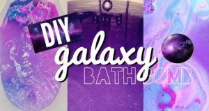 Homemade DIY Galaxy Bath Bomb-cover