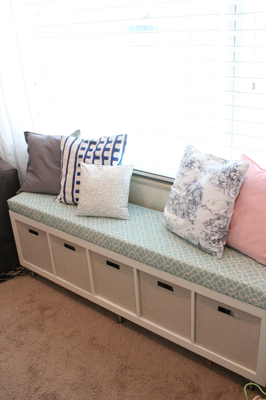 Ikea No-Sew Window Bench Tutorial