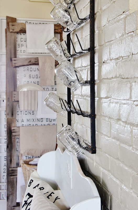 Mason Jar Wall Hooks