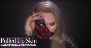 Pulled Up Skin Halloween Makeup Tutorial