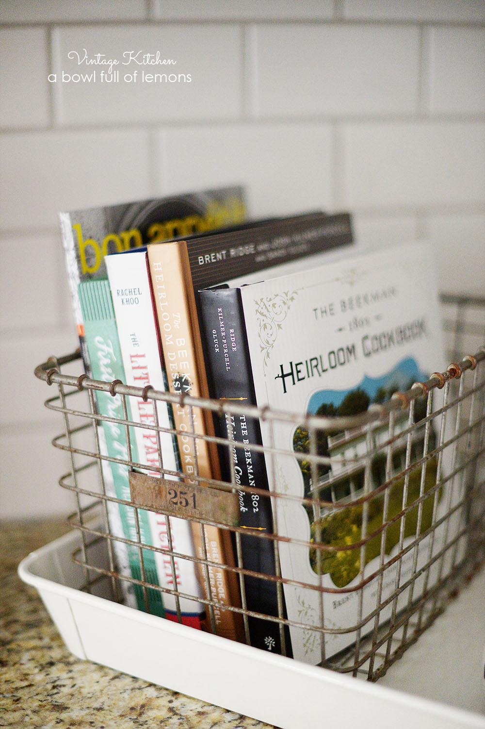 Vintage Kitchen Recipe Book Rack Cute