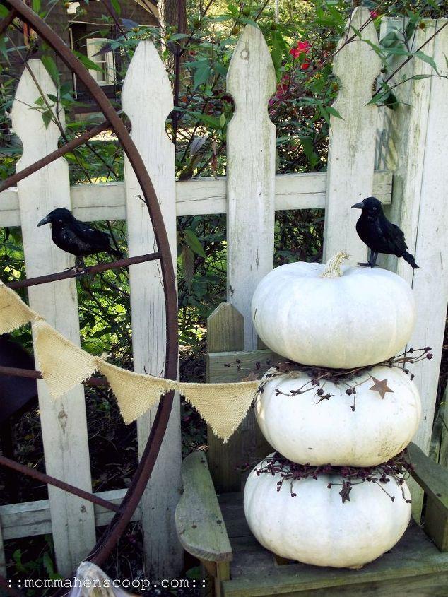 White Pumpkin Topiary