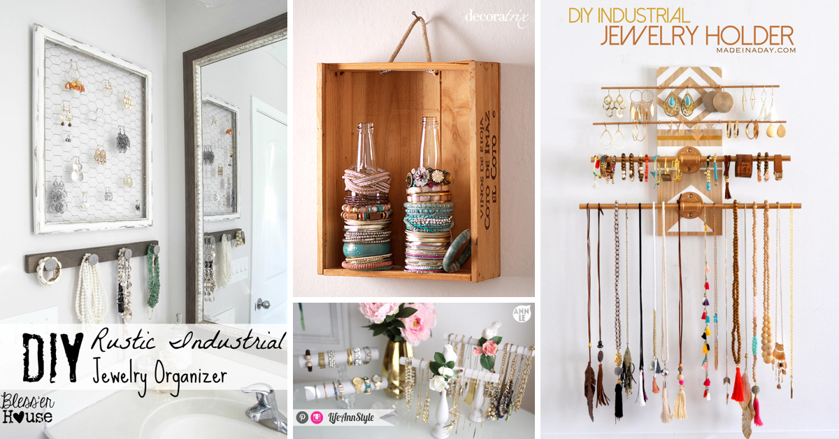 20 DIY Jewelry Organizers Displaying Your Accessories With Great Style