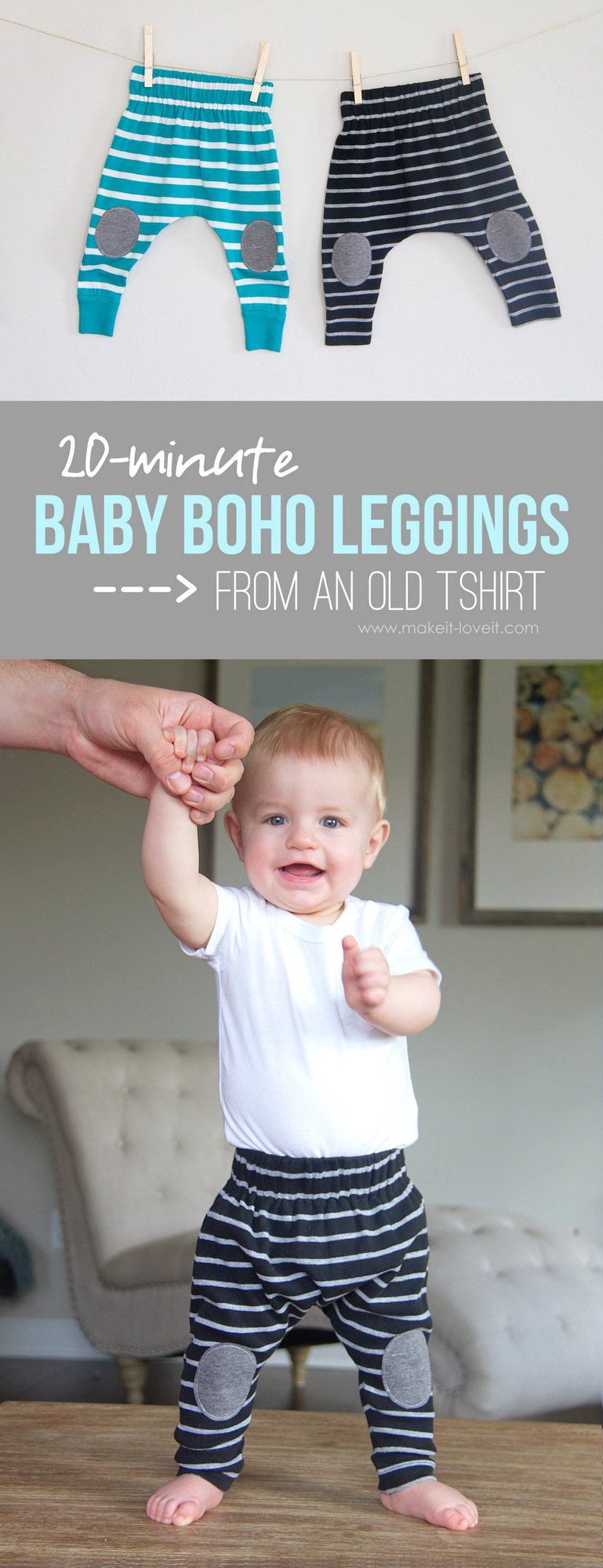 20-Minute Baby Boho Leggings