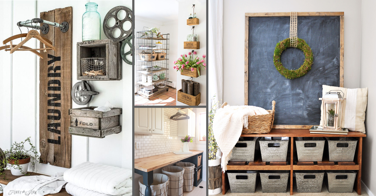 20 Super Chic Farmhouse Storage Ideas
