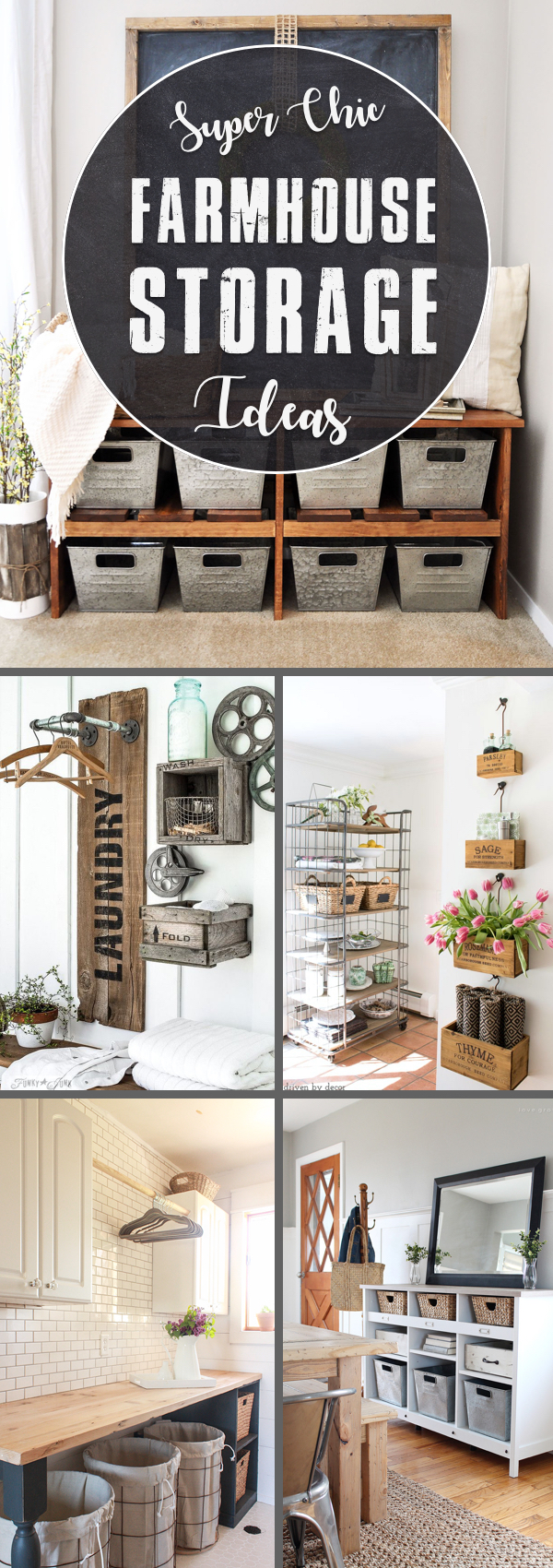 20 Simple yet Super Chic Farmhouse Storage