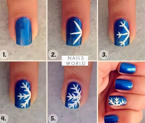 Accent Snowflake Nail Art