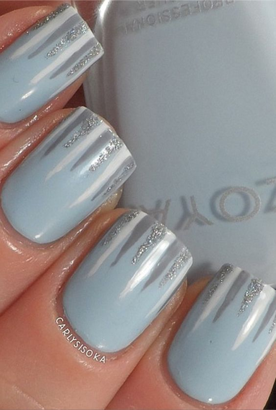 Add Icicles to Your Winter Nails for an Adorable Accent