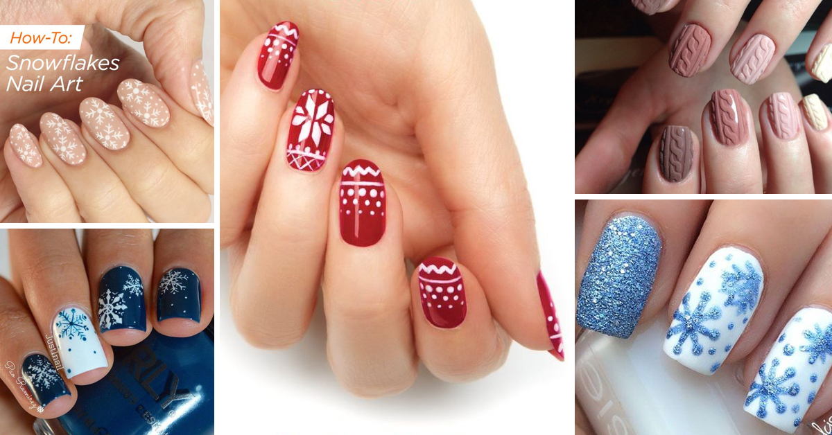 35 Beautiful Winter Nail Designs Shrinking the Season to