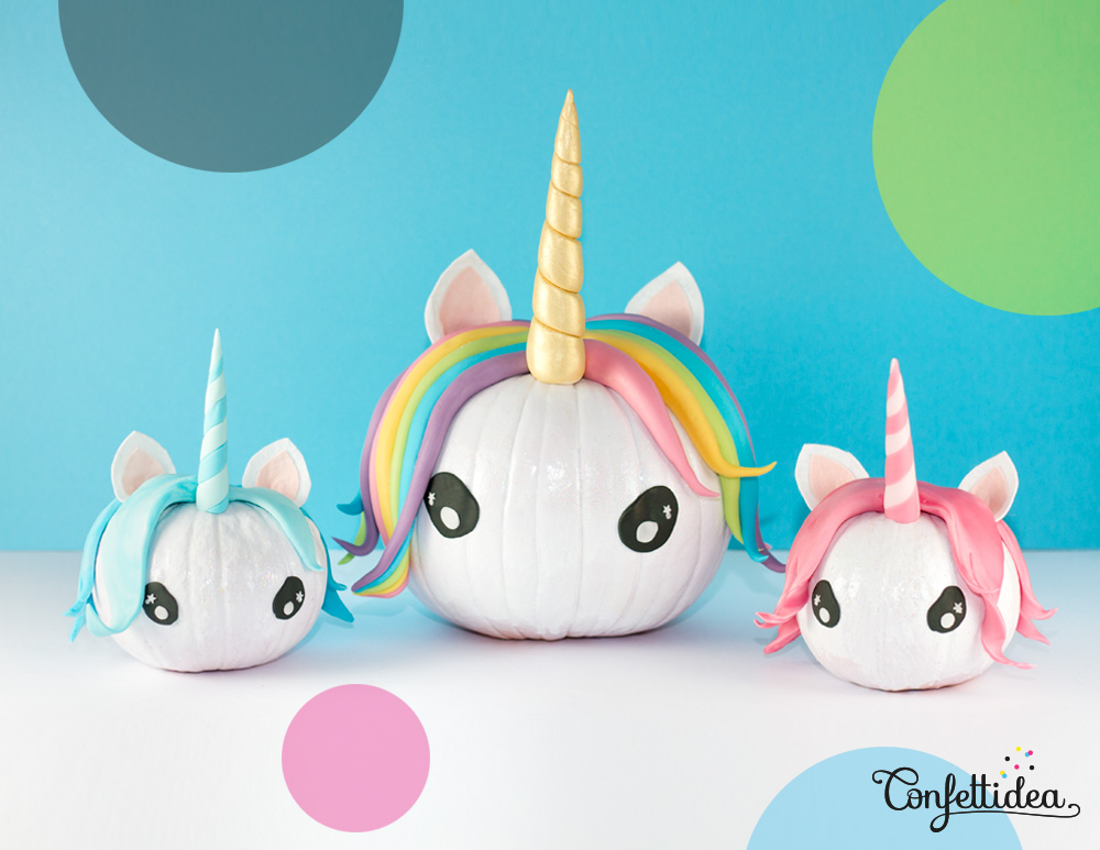 DIY Unicorn Pumpkins