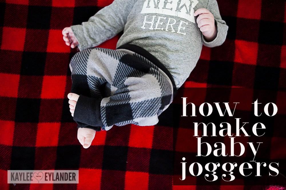 How to make Baby Joggers : DIY Baby Harem Pants Tutorial