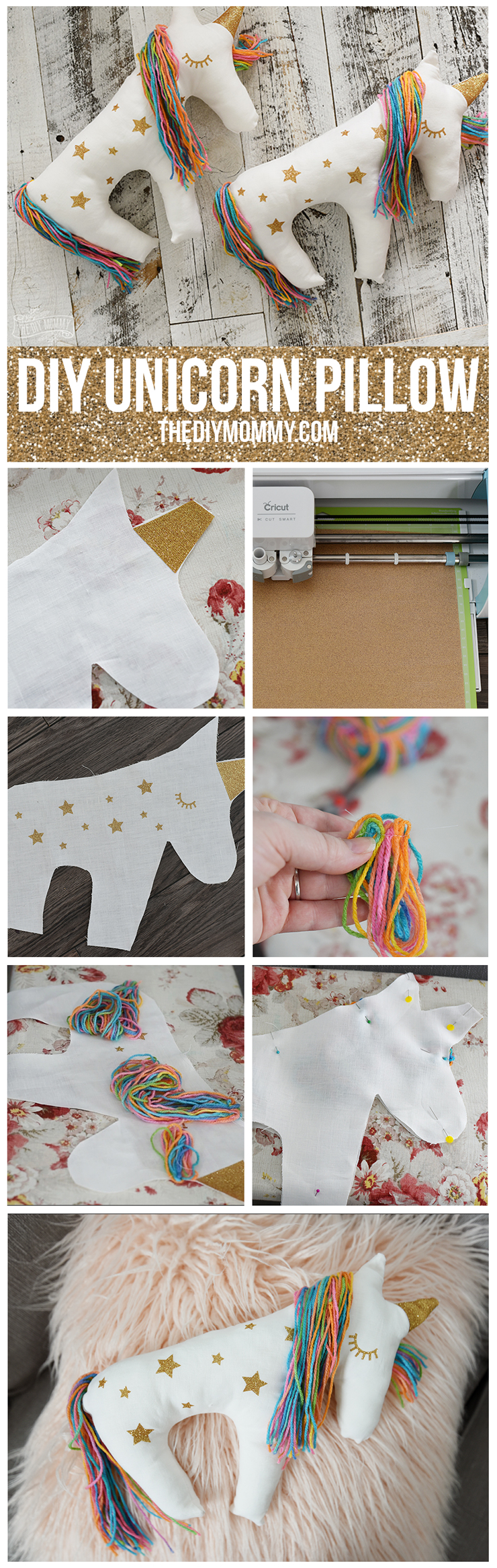 Make a Unicorn Plush Pillow with the Cricut Explore Air
