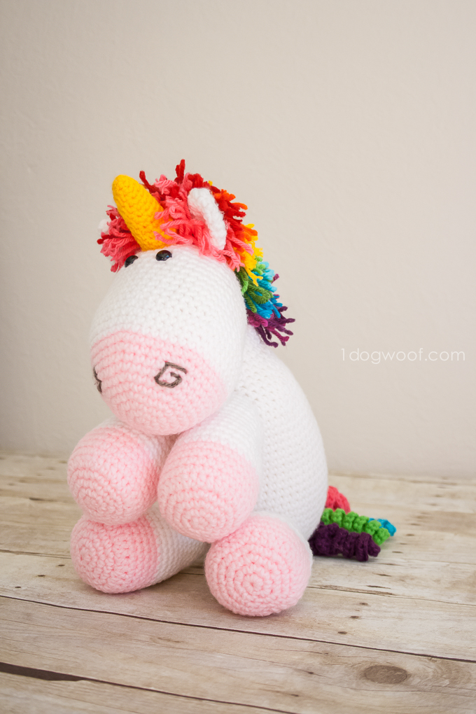 Rainbow Cuddles Crochet Unicorn Pattern