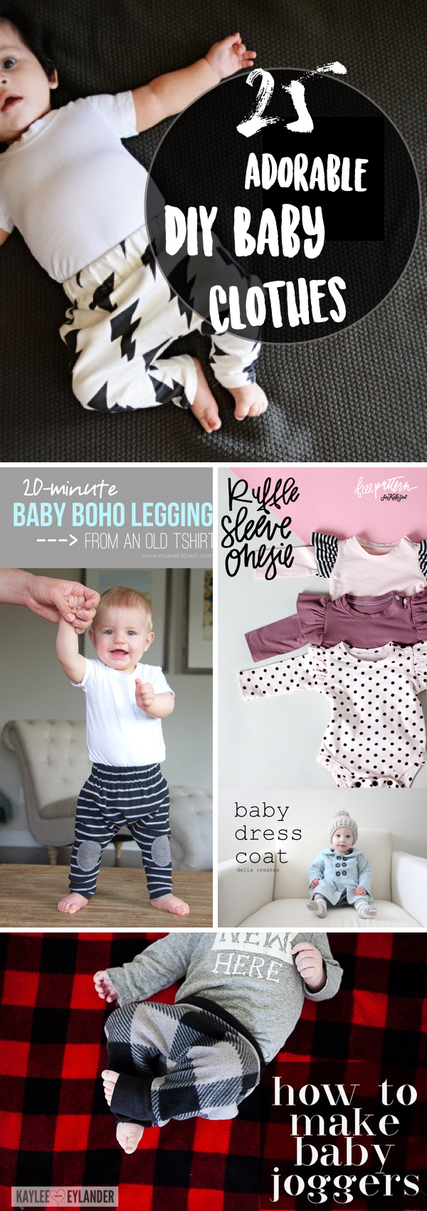 25 Unbelievably Adorable DIY Baby Clothes You Can Put Together At Home!