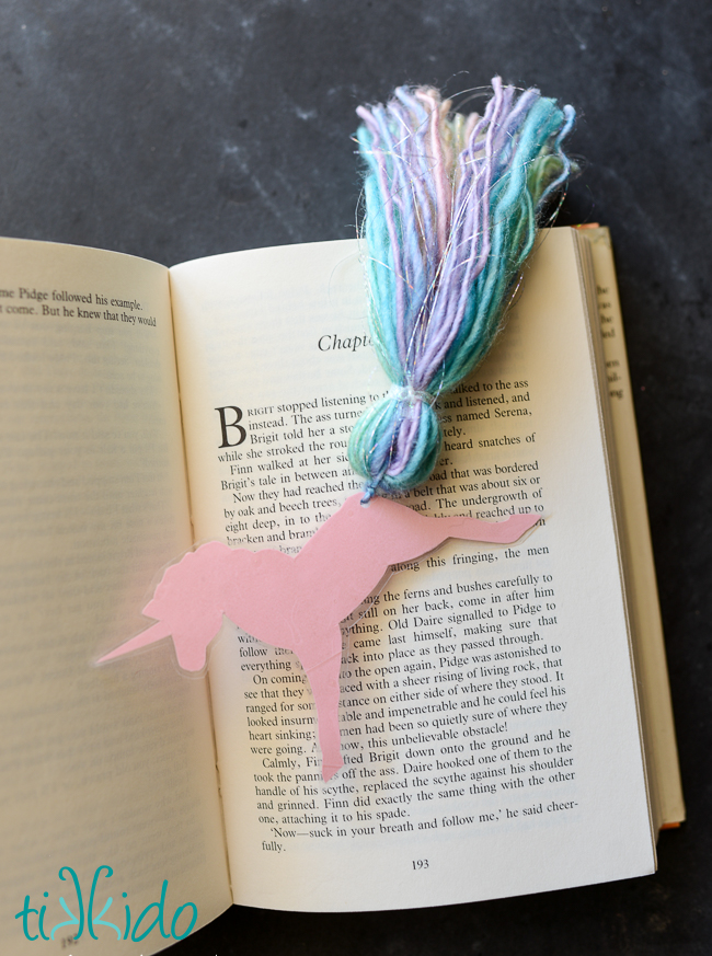 Unicorn Bookmark Favor