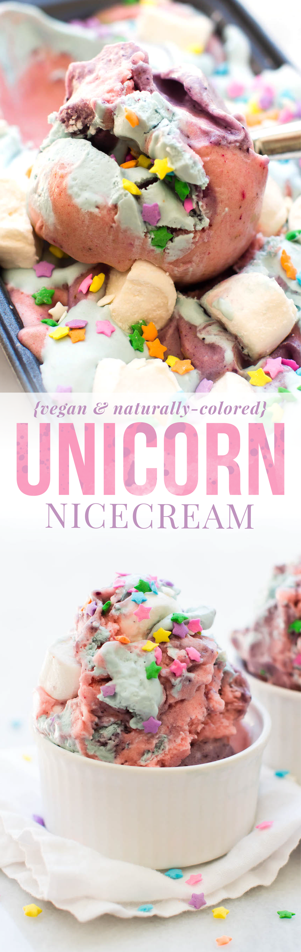 Vegan Unicorn Nice Cream