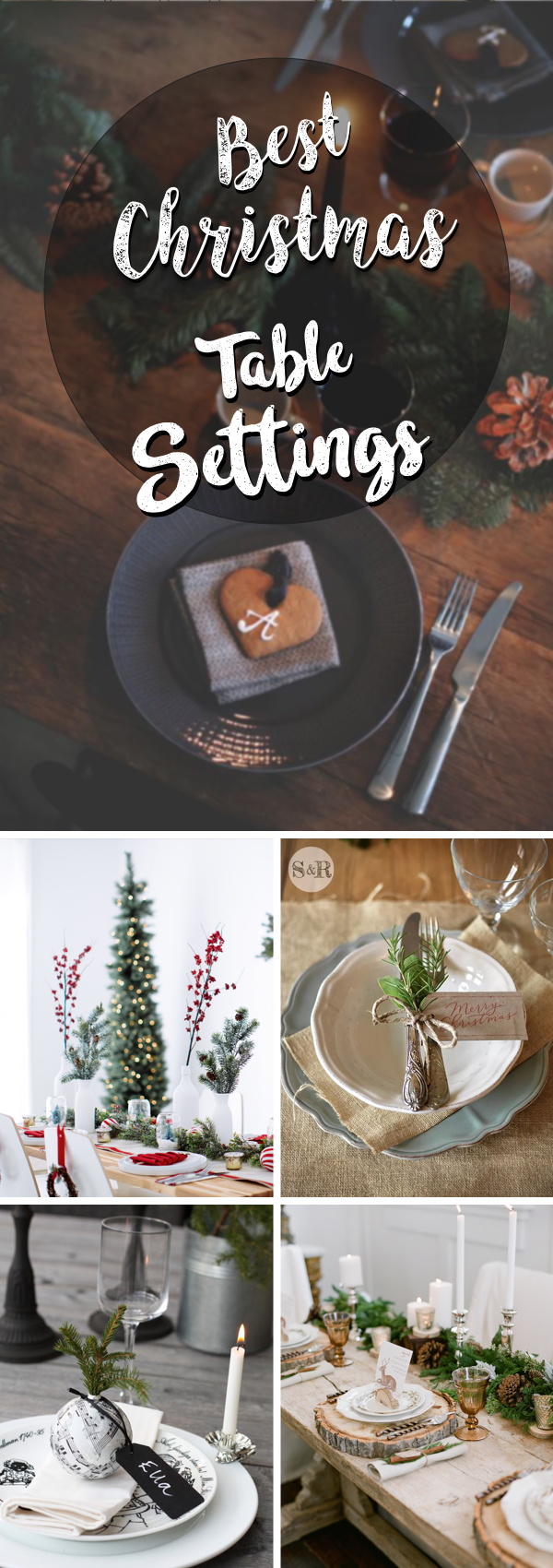 20 Christmas Table Settings Making your Meal as Gorgeous as It's Delicious