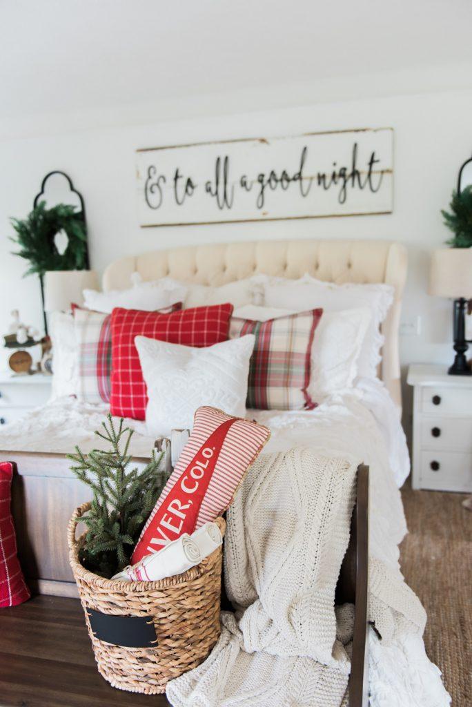 Cozy Farmhouse Christmas Bedroom