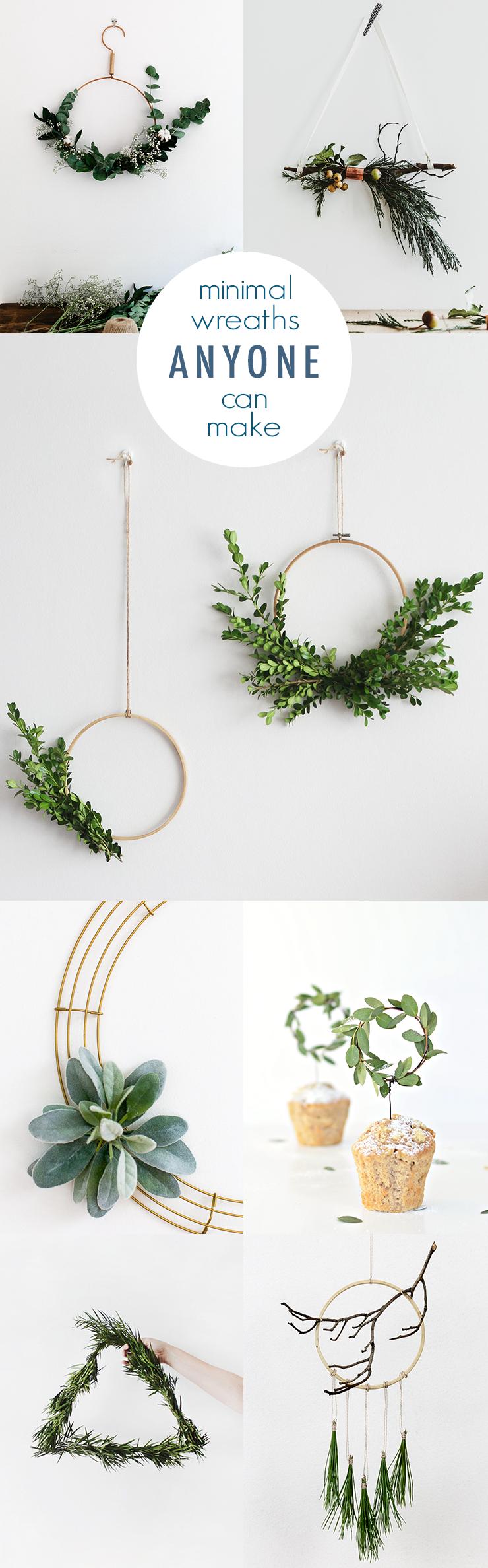 Minimal DIY Wreaths