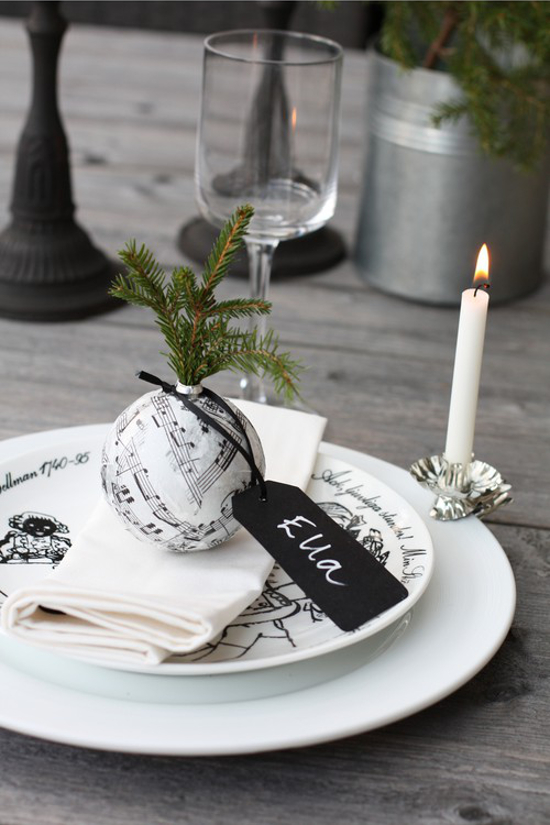 Ornament-Turned-Place Cards