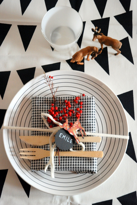 Reindeer-Themed Dining Setting