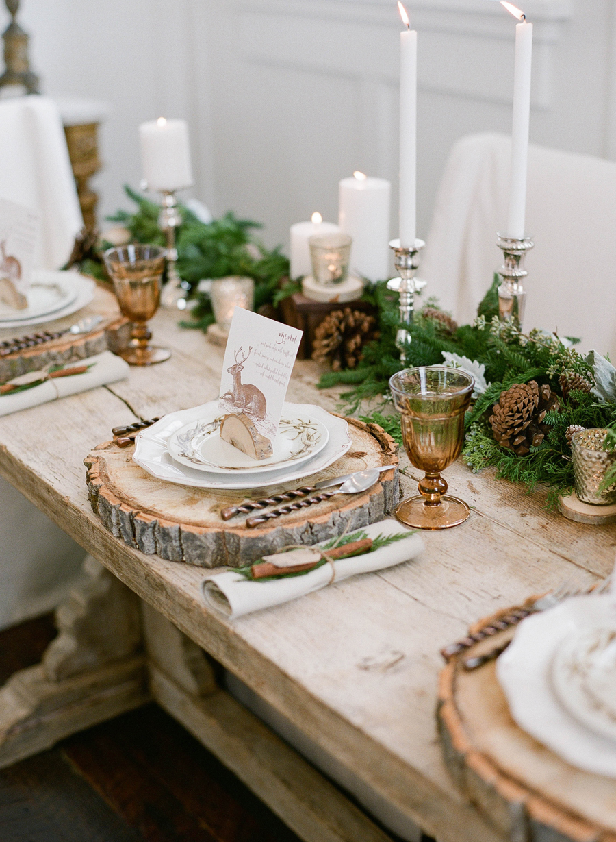Rustic Elegant Winter Wood Table