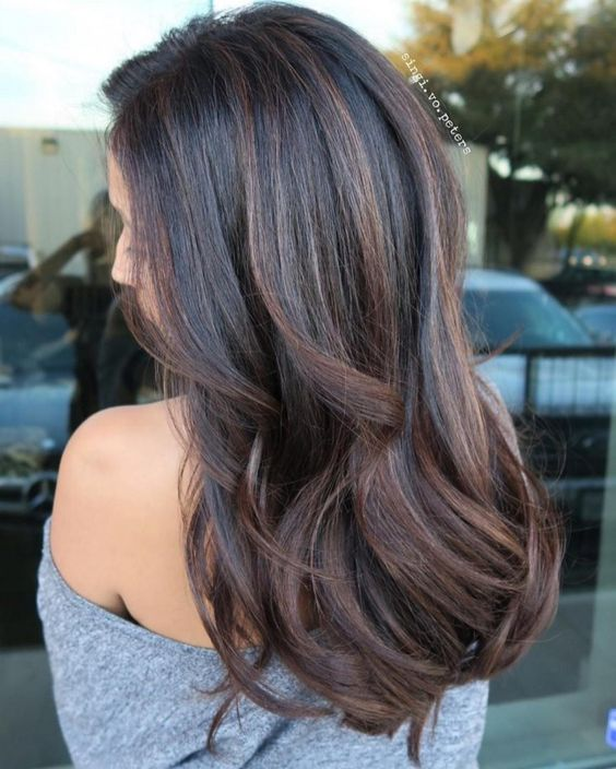 Subtle Balayage On Dark Brown Hair Cute Diy Projects