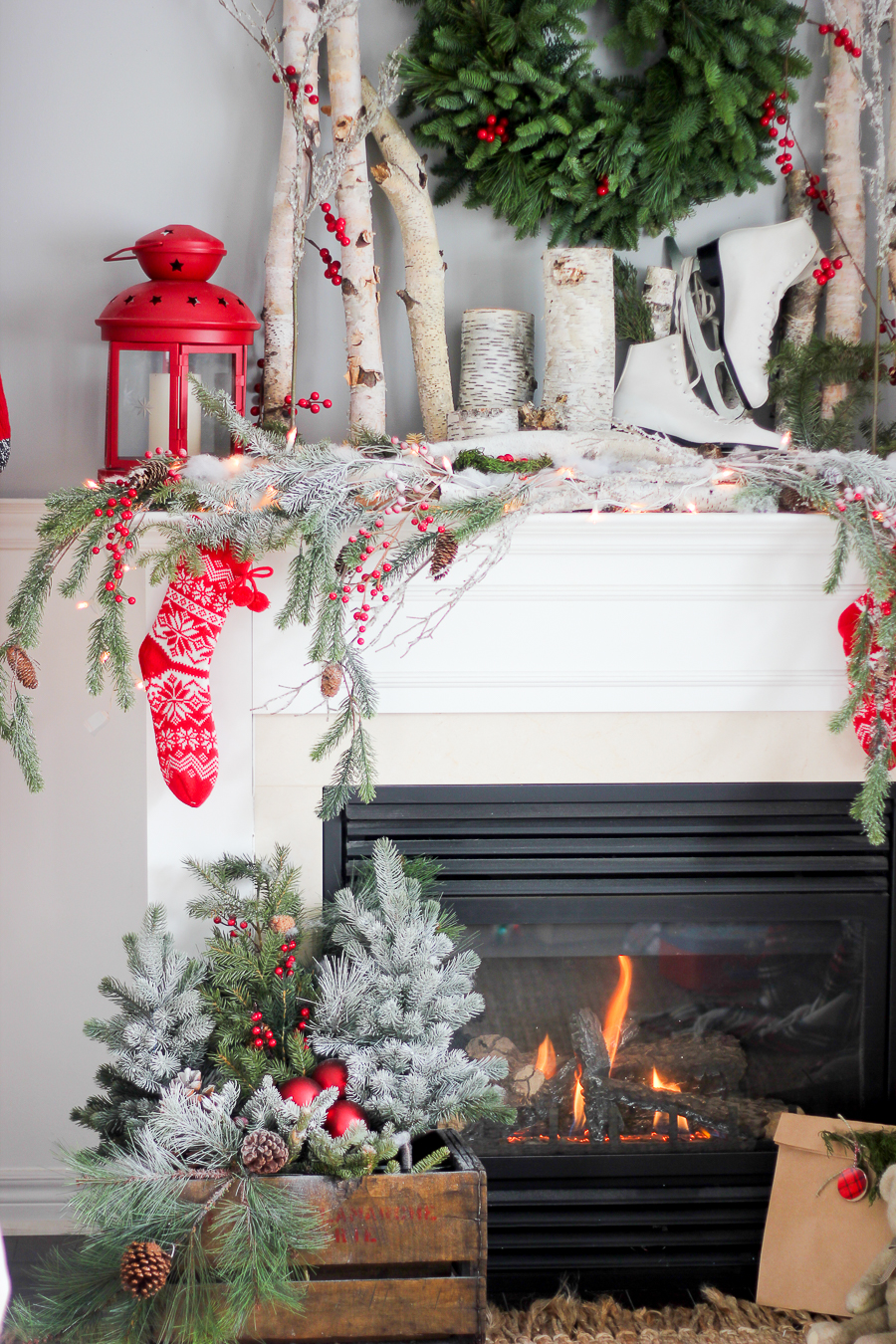 Winter Forest Mantel