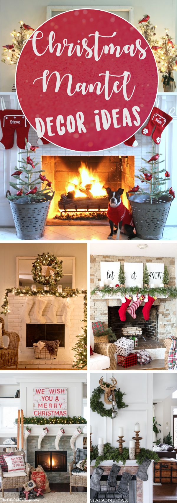 20 Ideas for a Christmas Mantel Decor Worth Remembering for Years!