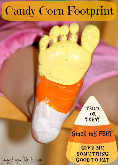Candy Corn Footprints