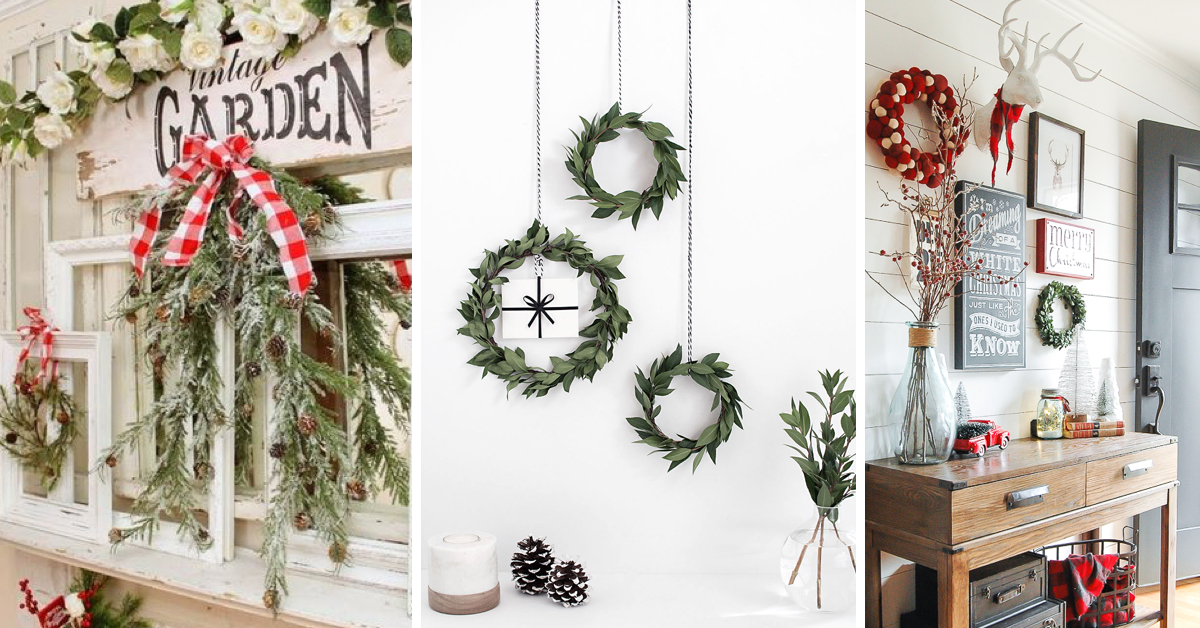 Best 30 diy christmas wall decor ideas for Diy christmas decorations for your home