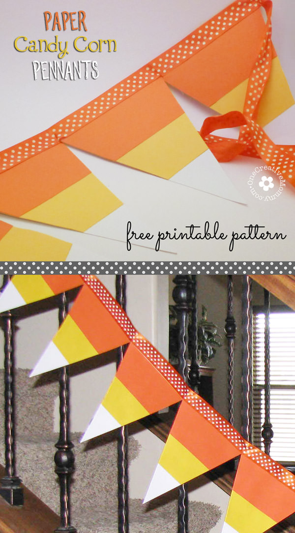 Paper Candy Corn Pennants