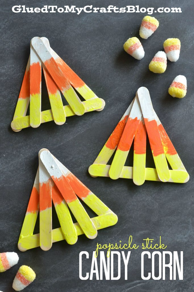 Popsicle Stick Candy Corn