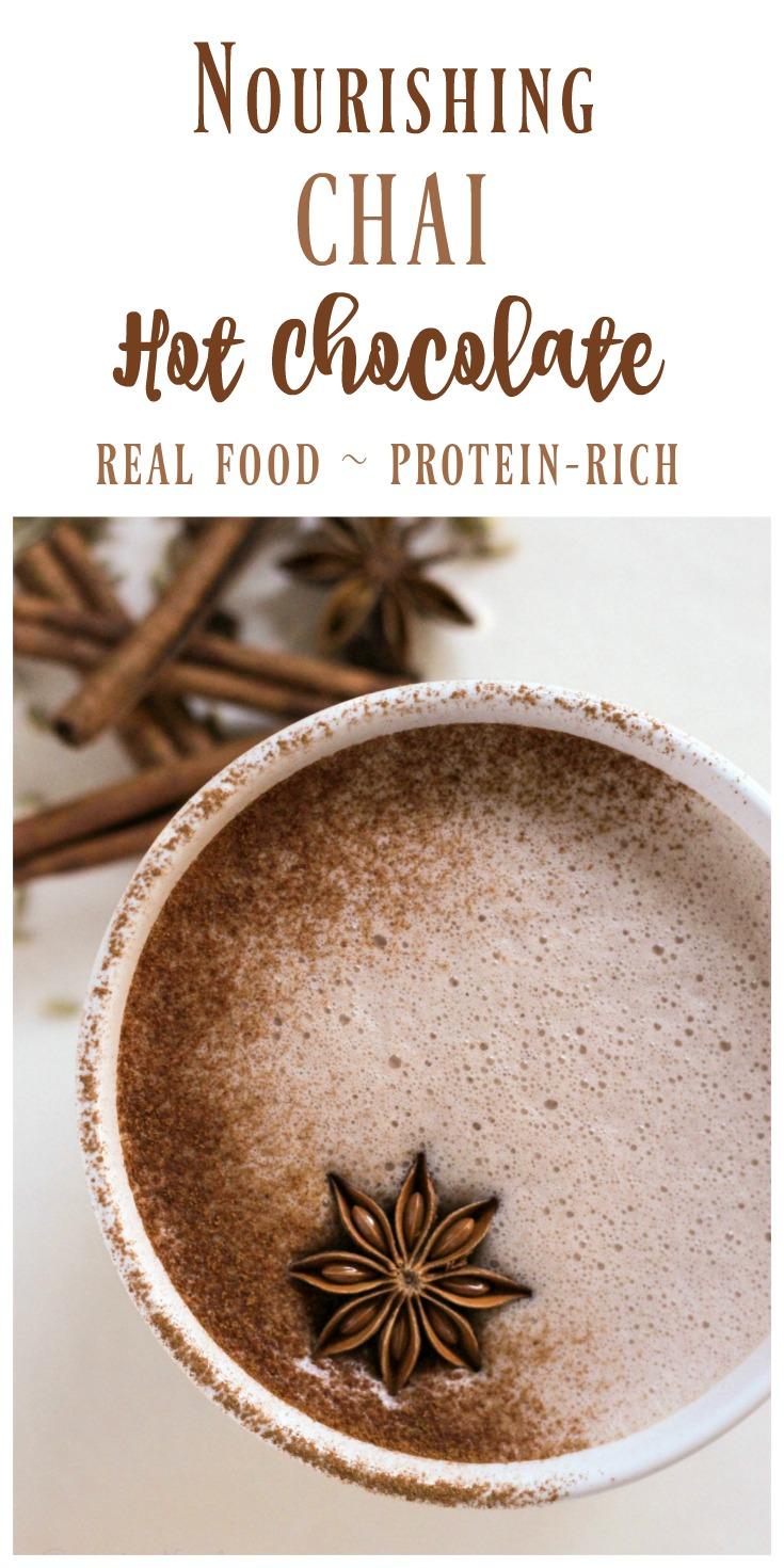 Real Food Chai Hot Chocolate