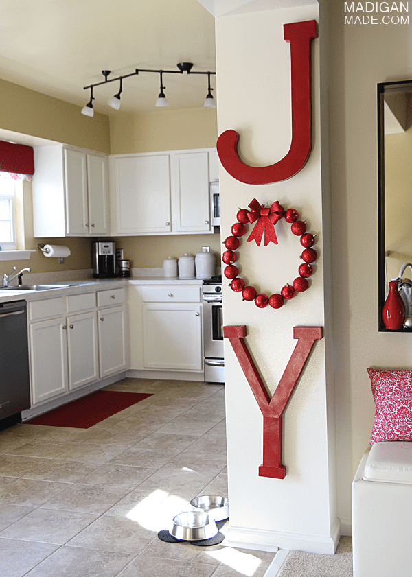 Simple Joy Holiday Wall Letters