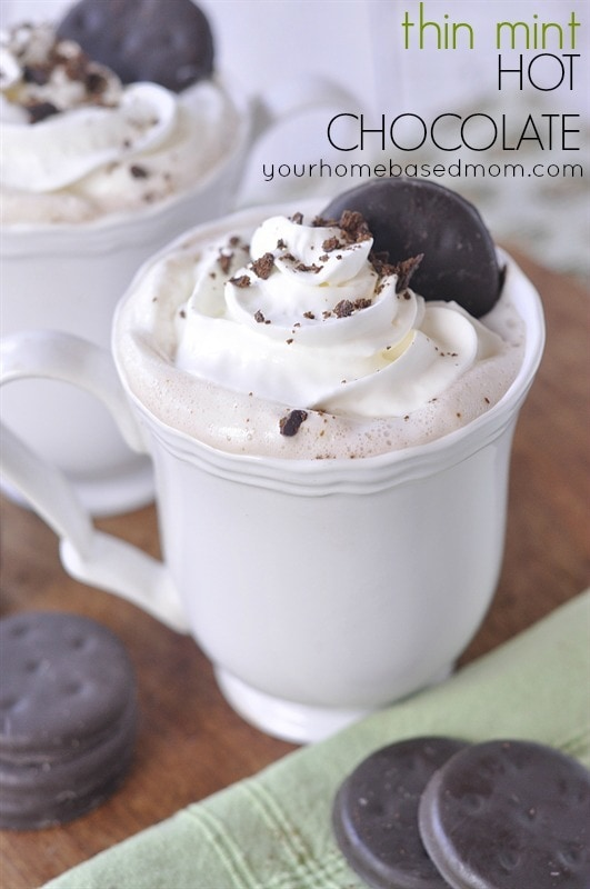 Thin Mints Hot Chocolate